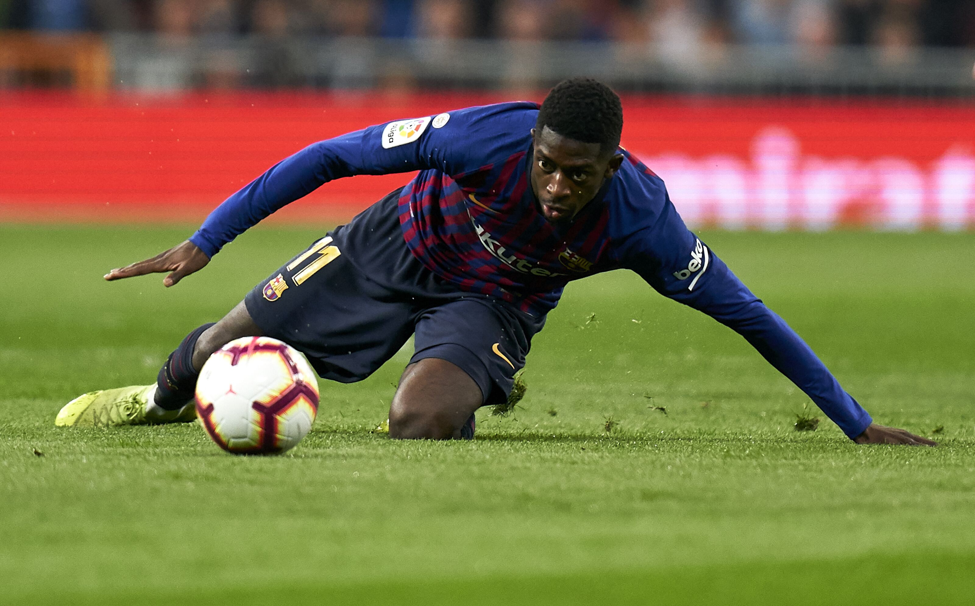 Barcelona: Ousmane Dembele could miss Lyon game with hamstring injury