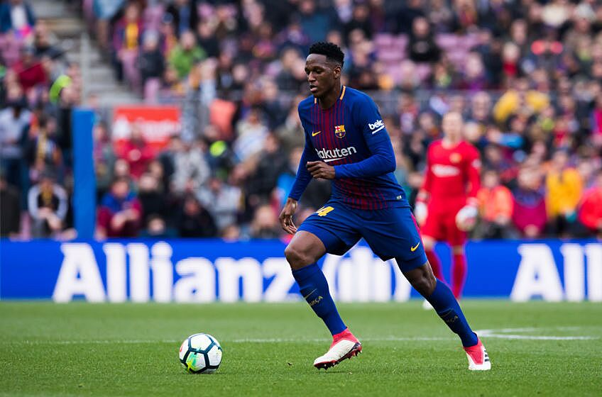 Barcelona yerry mina is not ready for a place in the squad yerry mina was one of the worst performers against levante stopboris Choice Image