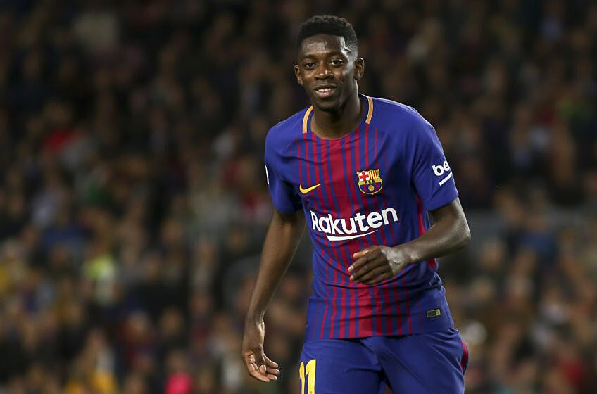 3bce08a27ce Ousmane Dembélé during the spanish football league La Liga match between FC  Barcelona and Leganes at the Camp Nou Stadium in Barcelona, Catalonia, ...