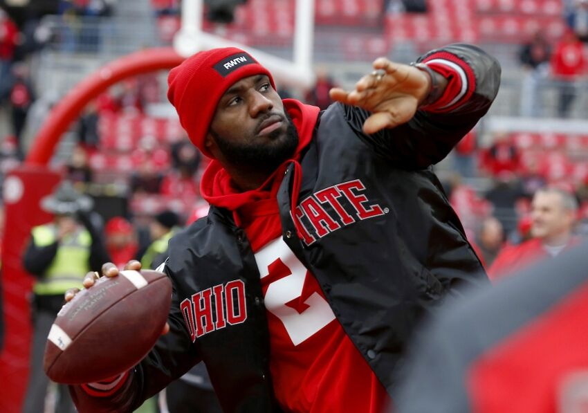 Could Lebron James Take A Snap For The Ohio State Buckeyes