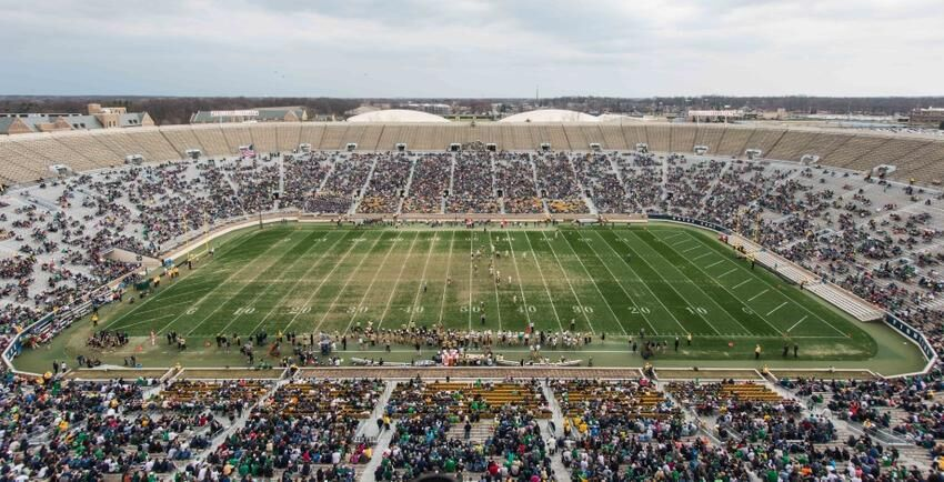Notre Dame to sell turf from football stadium for $150