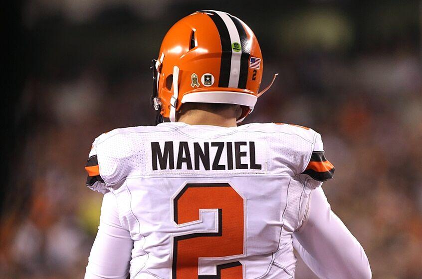 b0d24060774 2 Mens College Football Texas AM Aggies Red Jersey Nov 5, 2015 Cincinnati,  OH, USA Cleveland Browns quarterback Johnny Manziel Elite ...