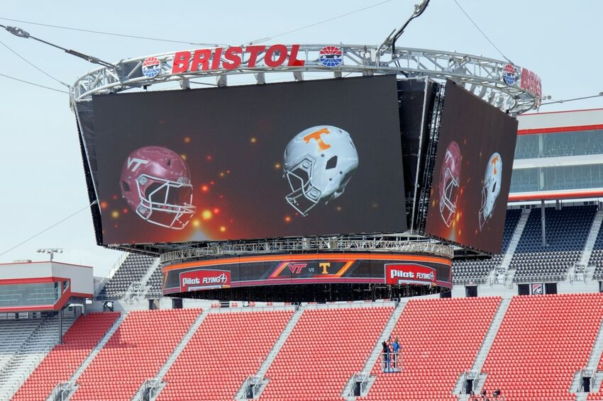 How Bristol Motor Speedway Was Transformed For Football Game