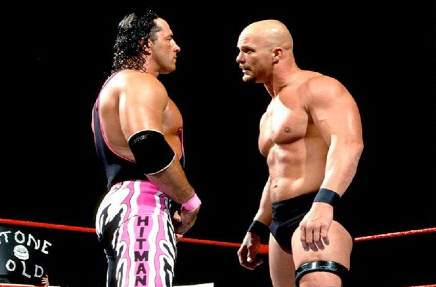 Image result for bret hart vs stone cold wrestlemania 13