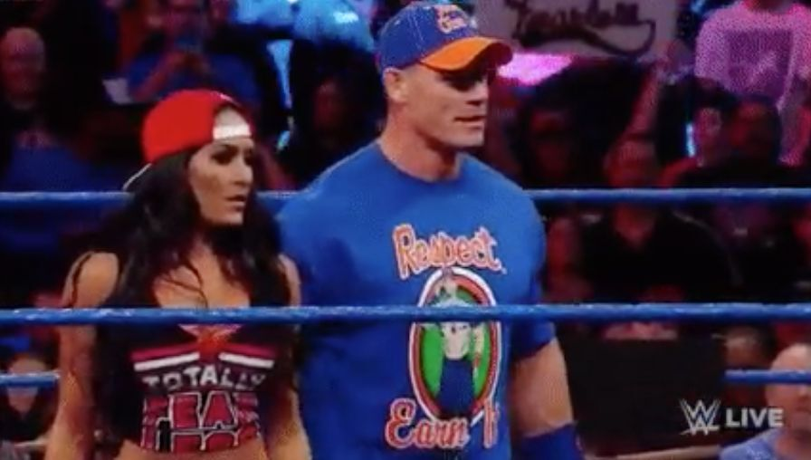 Nikki Bella comes out to defend John Cena on WWE SmackDown (Video)