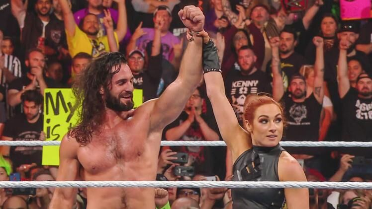 WWE Extreme Rules 2019: Becky Lynch and Seth Rollins vs. Lacey Evans and Baron Corbin preview