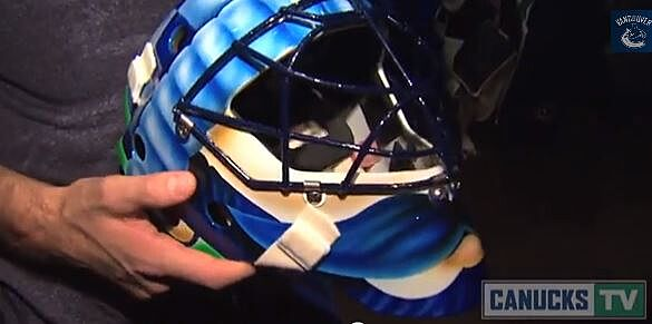 Roberto Luongo To Sport Movember Mustache Mask For Vancouver Canucks