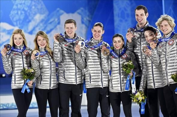 The Gallery For Meryl Davis And Jeremy Abbott: 2014 Sochi Winter Olympics Medal Count: Day 4 Standings