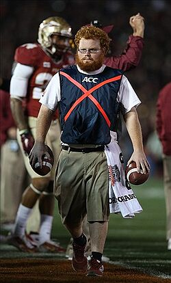 red lightning hangs out with florida state cheerleaders on spring