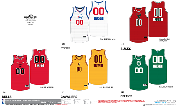 the uni watch blog also has a number of other nba uniform goodies so head on over to check them out - Nba Christmas Jerseys 2013