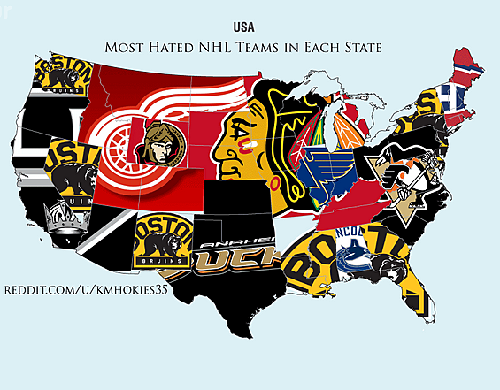 9476b47f954 Reddit survey shows the most hated NHL teams in the United States