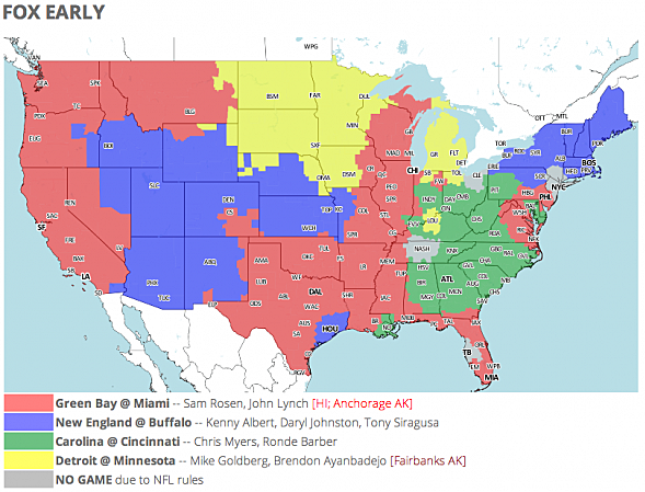 Nfl tv schedule and coverage map week 6 screen shot 2014 10 12 at 85825 am publicscrutiny Image collections