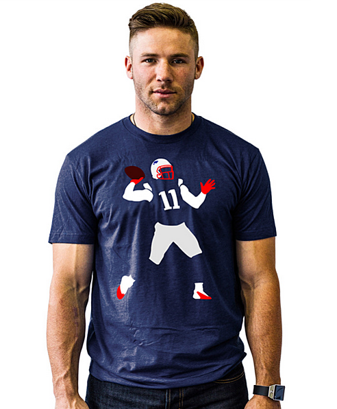 info for ab28c f0e46 Julian Edelman selling 'The Pass' t-shirt (Photo)