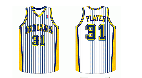 892ad487c4a Indiana Pacers Home Uniform - National Basketball Association (NBA) - Chris  Creamer's Sports Logos