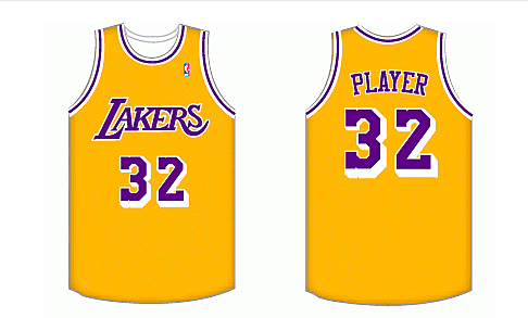 bb8f4415fff Los Angeles Lakers Home Uniform - National Basketball Association (NBA) - Chris  Creamer's Sports