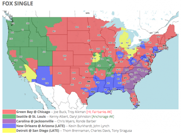 NFL TV schedule and coverage map: Week 1