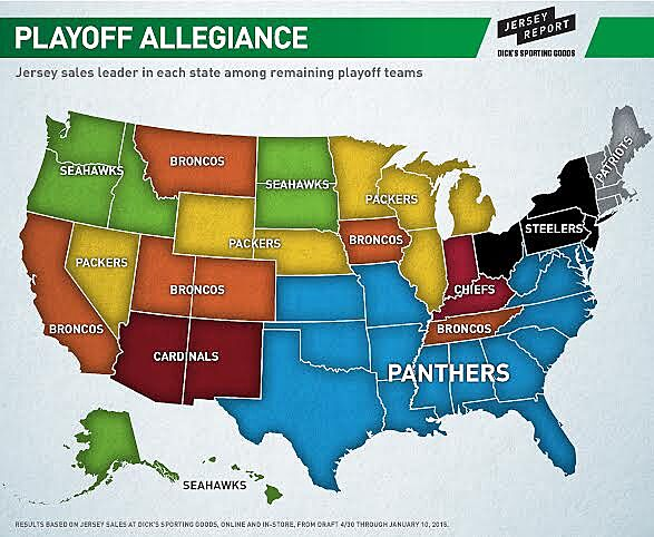 d0793abd5 Denver Broncos are top jersey of playoff teams in Tennessee