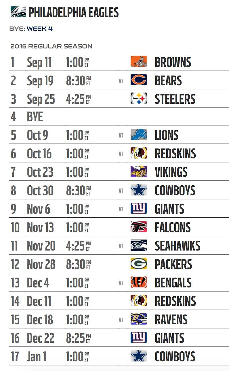 Priceless image intended for printable eagles schedule