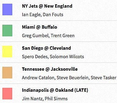 NFL coverage map 2016: TV schedule Week 16