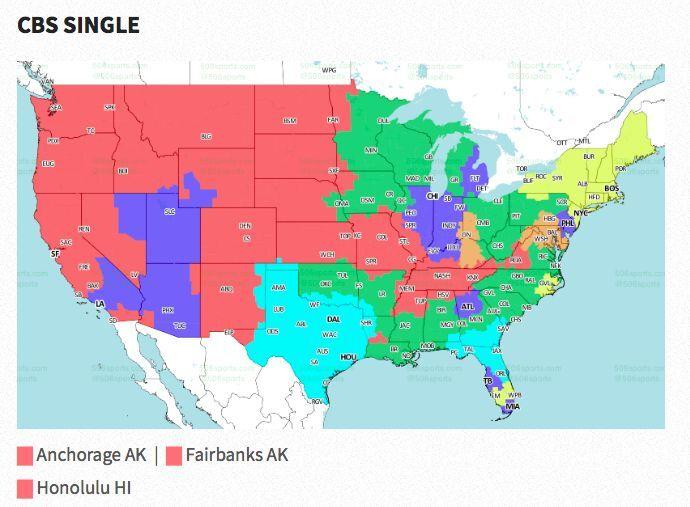 Nfl Coverage Map 2017 Tv Schedule Week 1