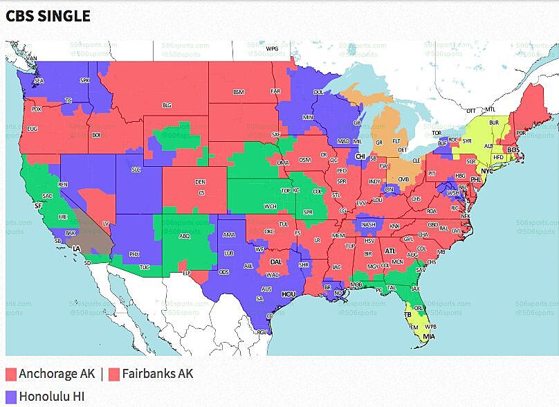 NFL Week 10 2017: Broadcast map for CBS and FOX afternoon games