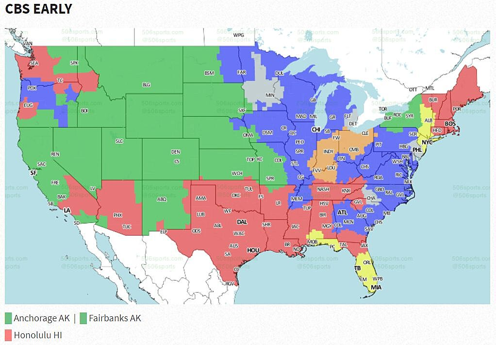 NFL coverage map 2017: TV schedule Week 3 on