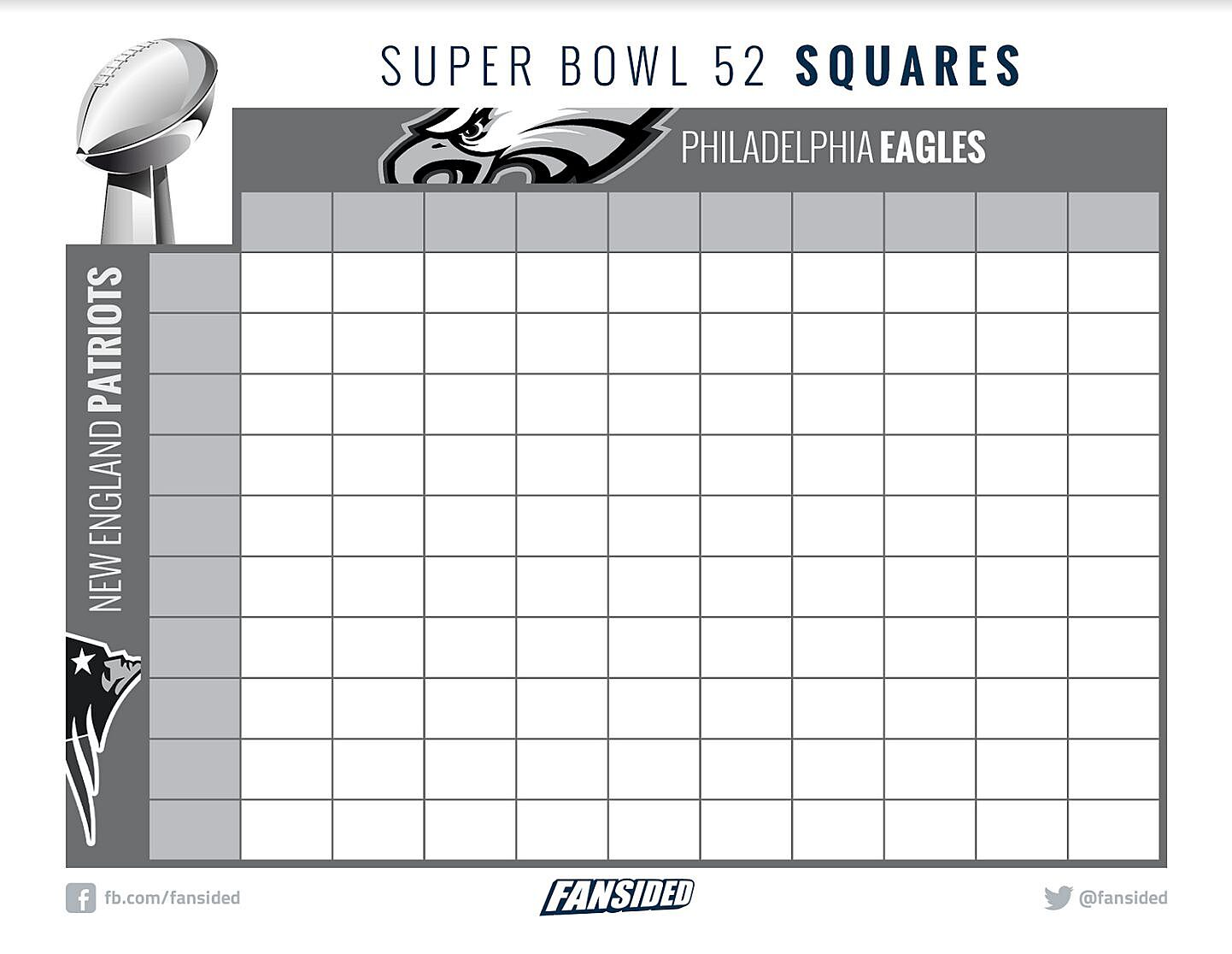 This is a photo of Amazing Free Printable Super Bowl Squares