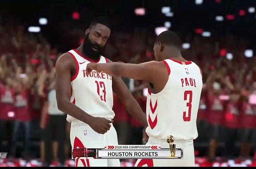 70f88f55600 Harden and Paul celebrate a title (Screenshot courtesy of NBA 2K18)