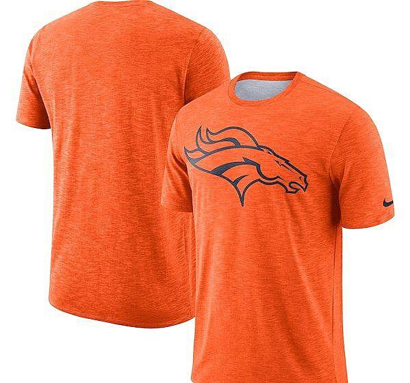 Denver Broncos Nike Sideline Cotton Slub Performance T-Shirt. Fanatics d636bf0c4fd