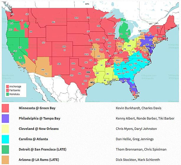 NFL coverage map 2018: TV schedule Week 2 on
