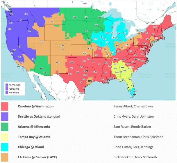 Image result for tv viewing chart for week 6 nfl