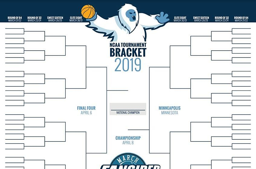 Ncaa Tournament 2019 Blank Printable March Madness Bracket