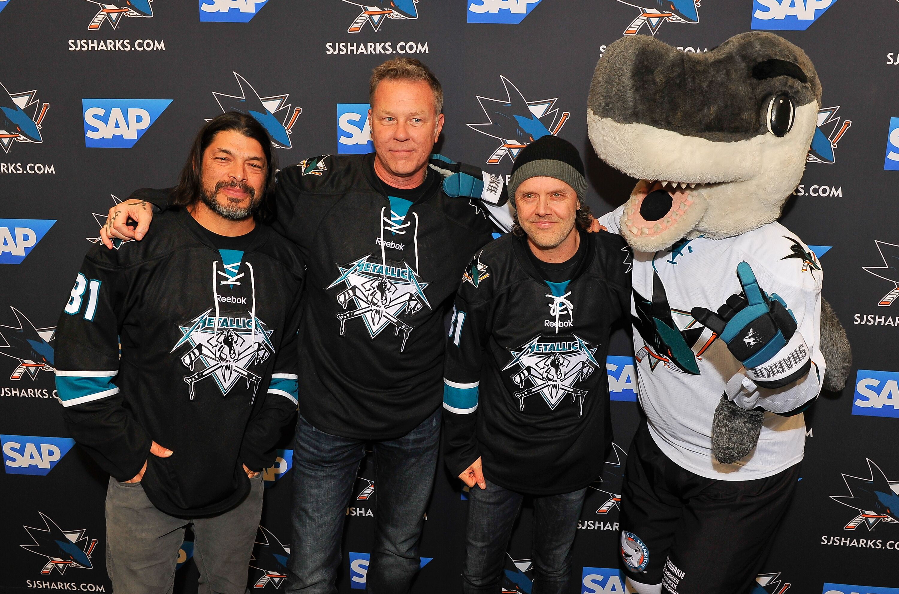James Hetfield Was Pumped To Greet Sharks Before Game 6