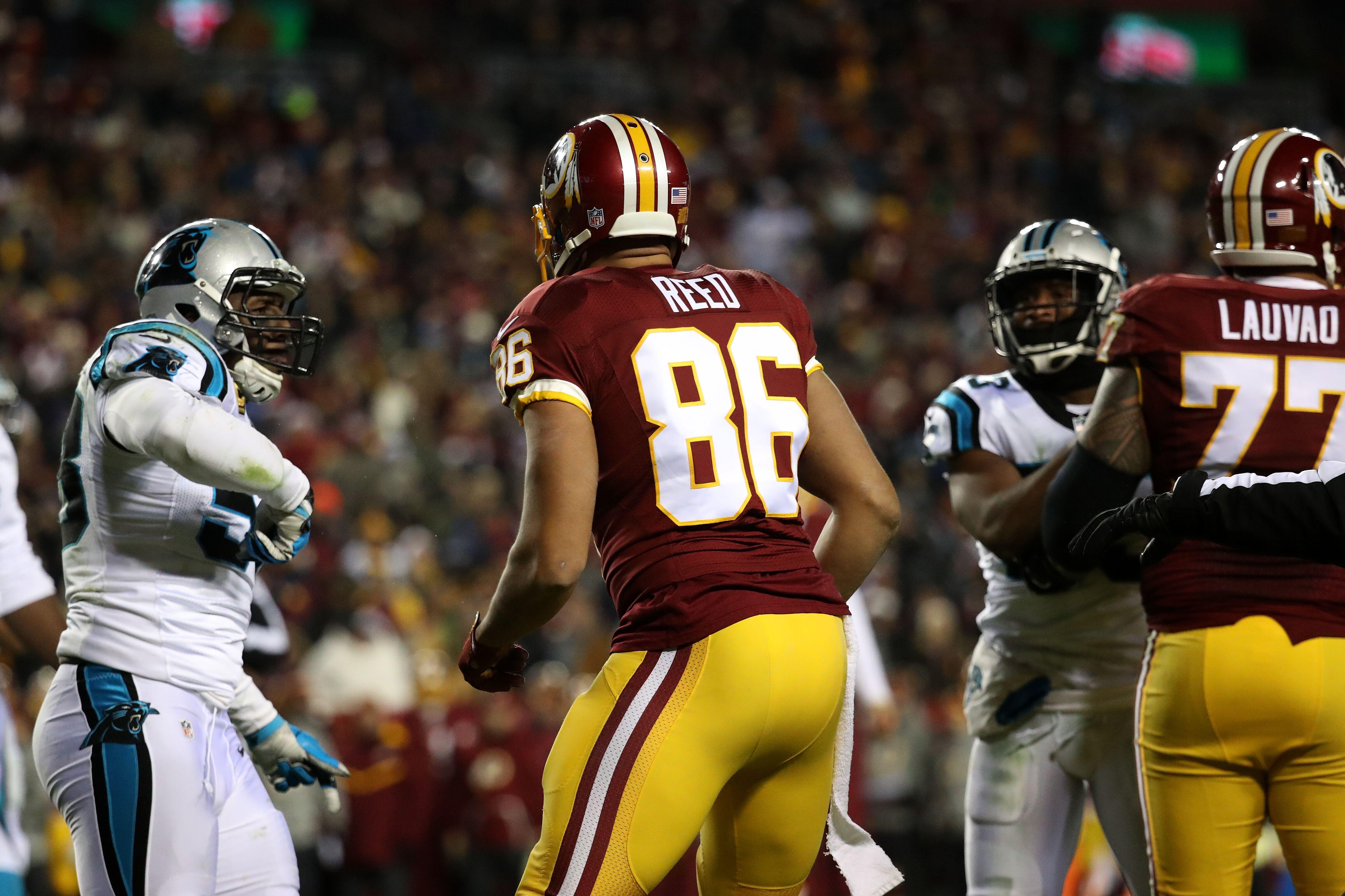 Jordan Reed injury update Washington Redskins TE playing with