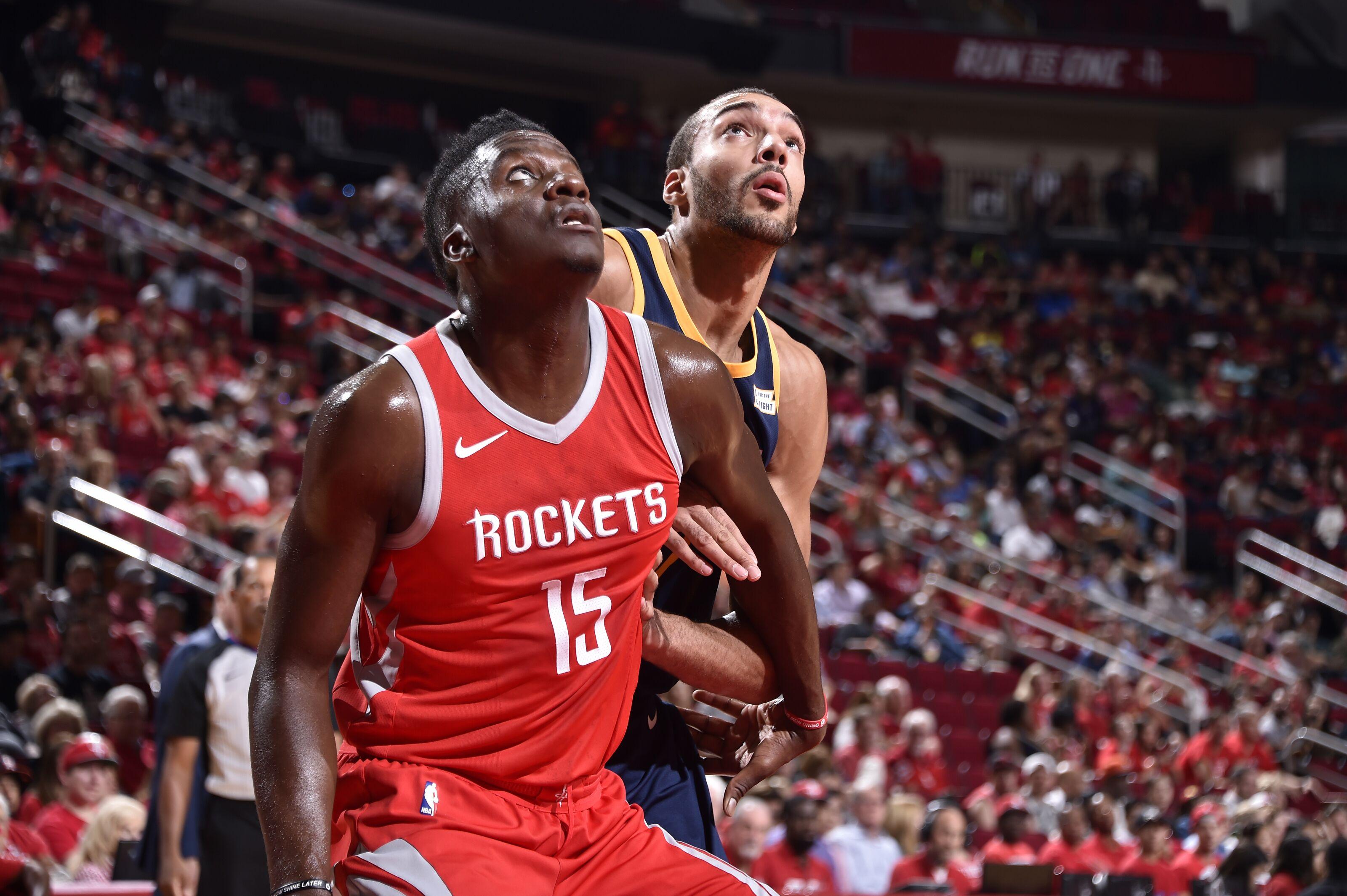 我的垃圾話讓Gobert生氣了!Capela:我說你能來一個轉身跳投嗎?-Haters-黑特籃球NBA新聞影音圖片分享社區