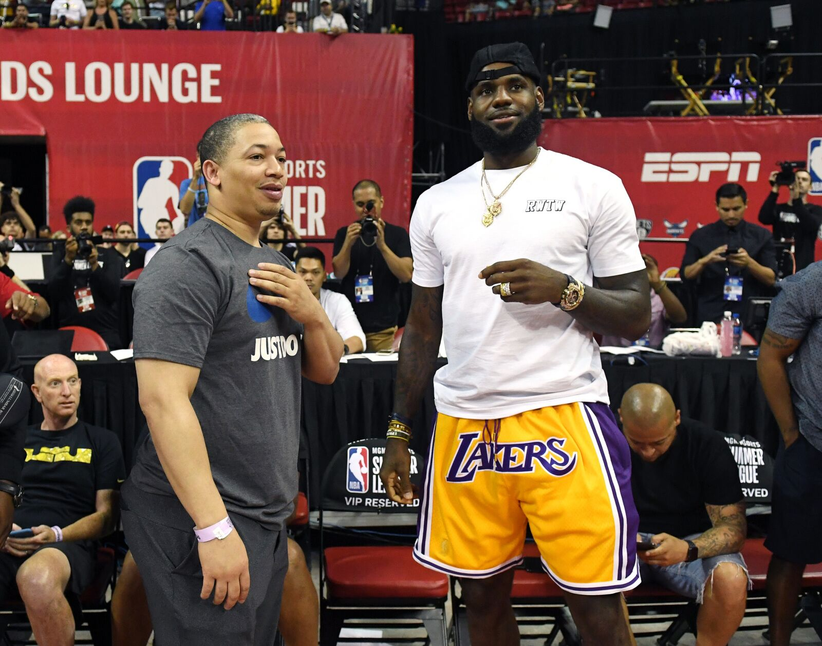 559812a32a6 LeBron James  Los Angeles Lakers Back to Showtime Lakers