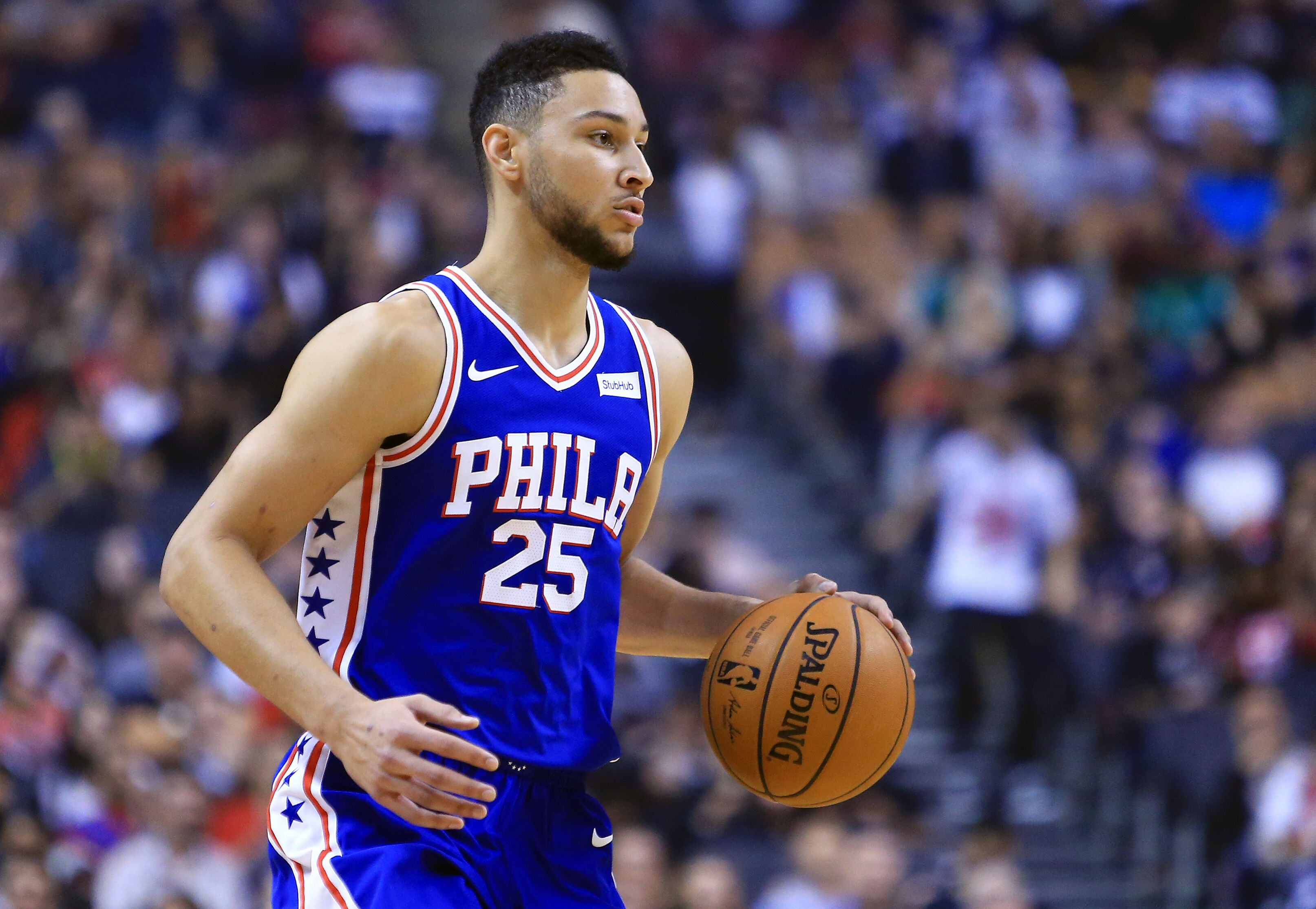 Ben Simmons is already making passes like a veteran point ...