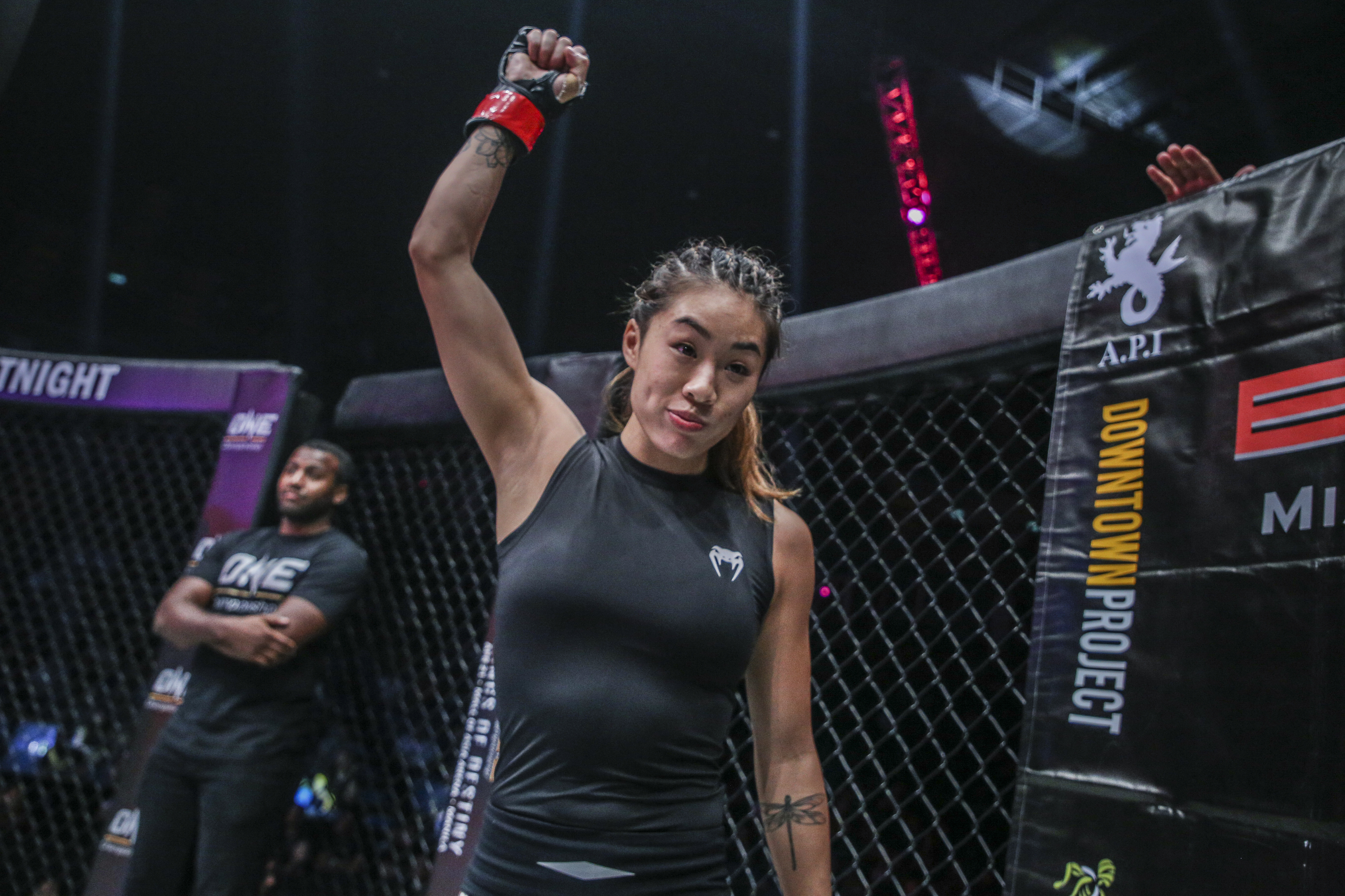 BANGKOK, THAILAND - MARCH 11: Angela Lee prepares to face Jenny Huang in the main event of the ONE Championship: Warrior Kingdom event at the Impact Arena on March 11, 2017 in Bangkok, Thailand. (Photo by Dux Carvajal/ONE Championship/Getty Images)