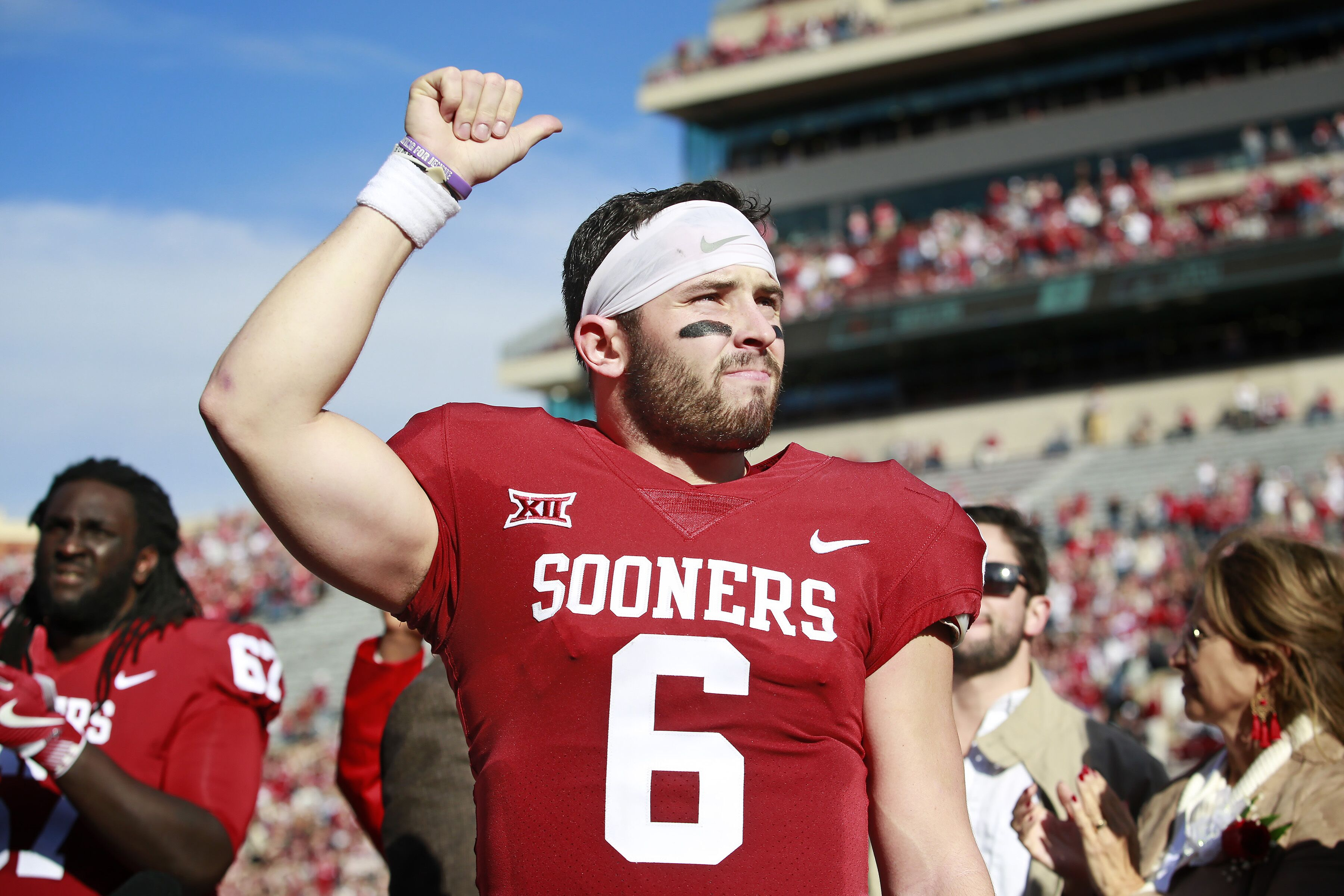 Oh and she said yes!!! Baker Mayfield the hopeful future of the Cleveland Browns franchise just made some major life plans for the future by getting