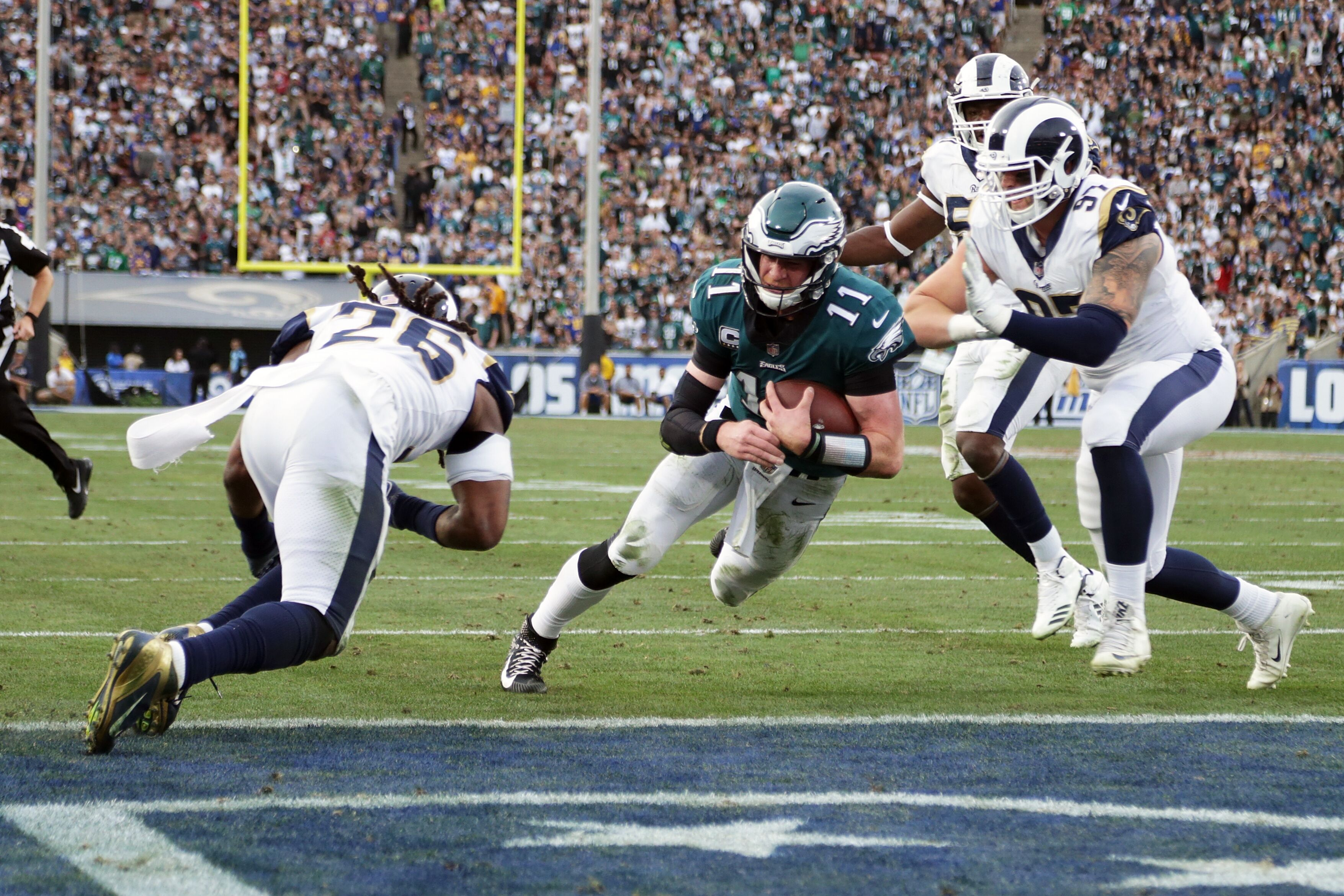 Eagles At Rams Highlights Score And Recap