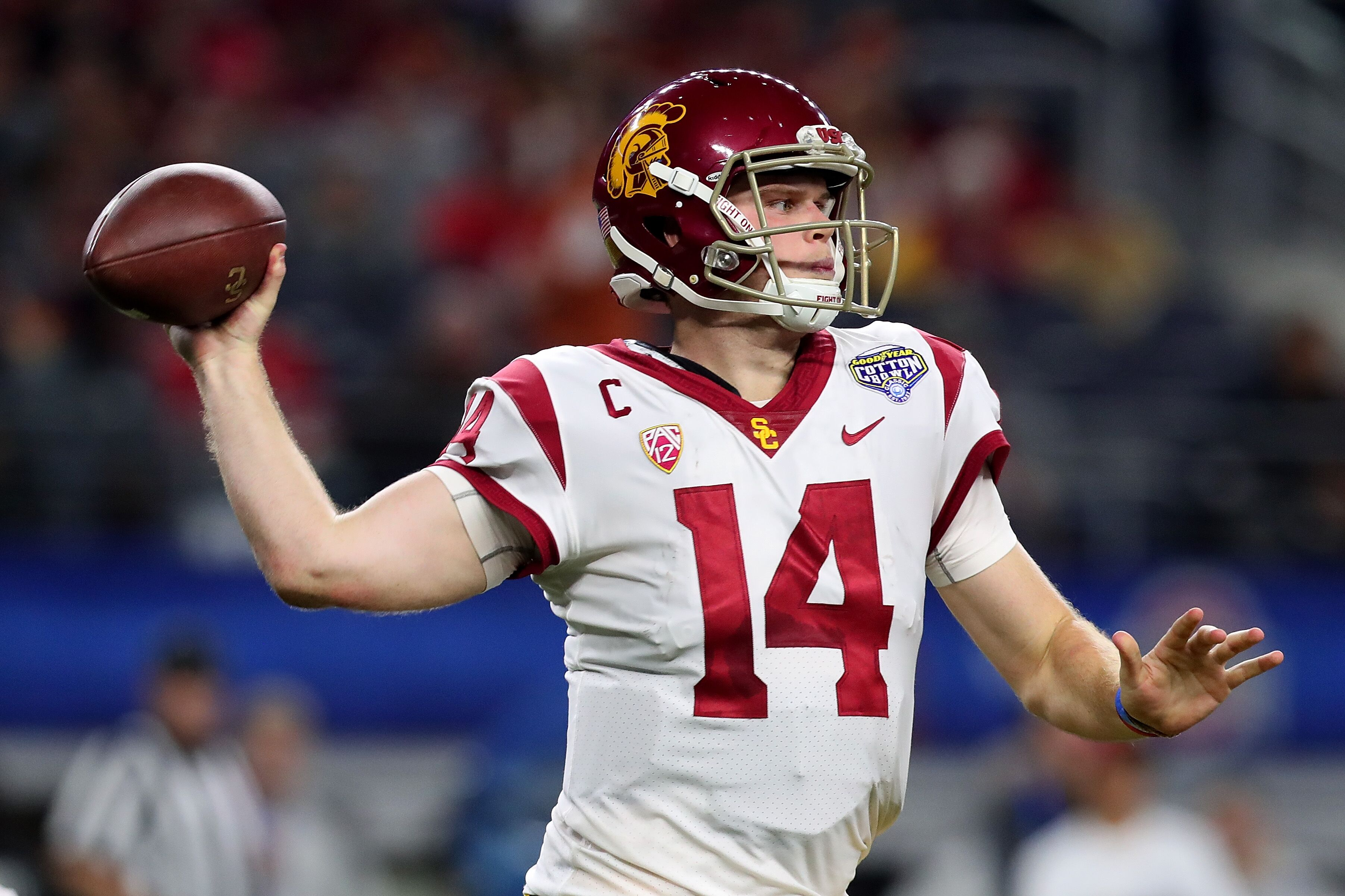 e8ffc1a599f Sam Darnold looks sloppy in his first Jets practice - NFL Headlines