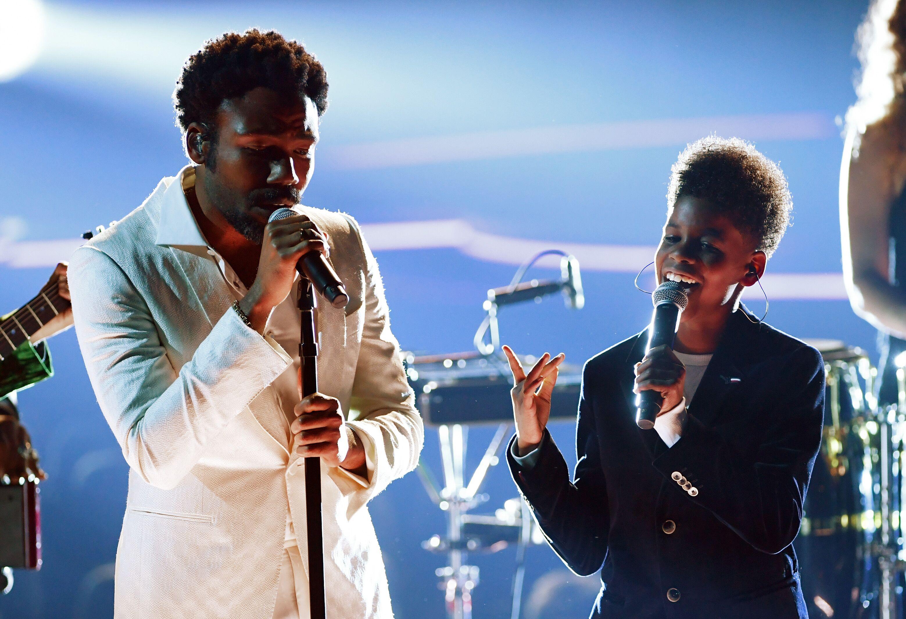 Grammys 2018 Who Was The Kid With Childish Gambino
