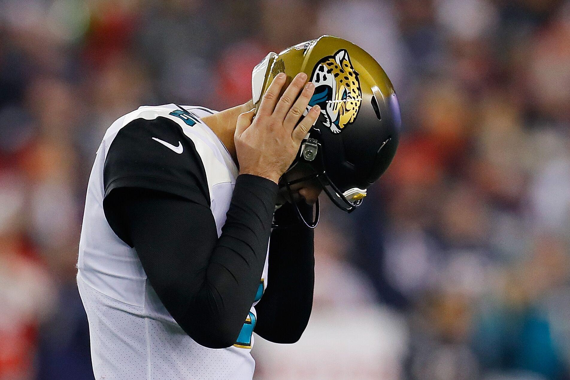 ea7674ba RIP Jacksonville Jaguars two-tone helmets (2013-18)