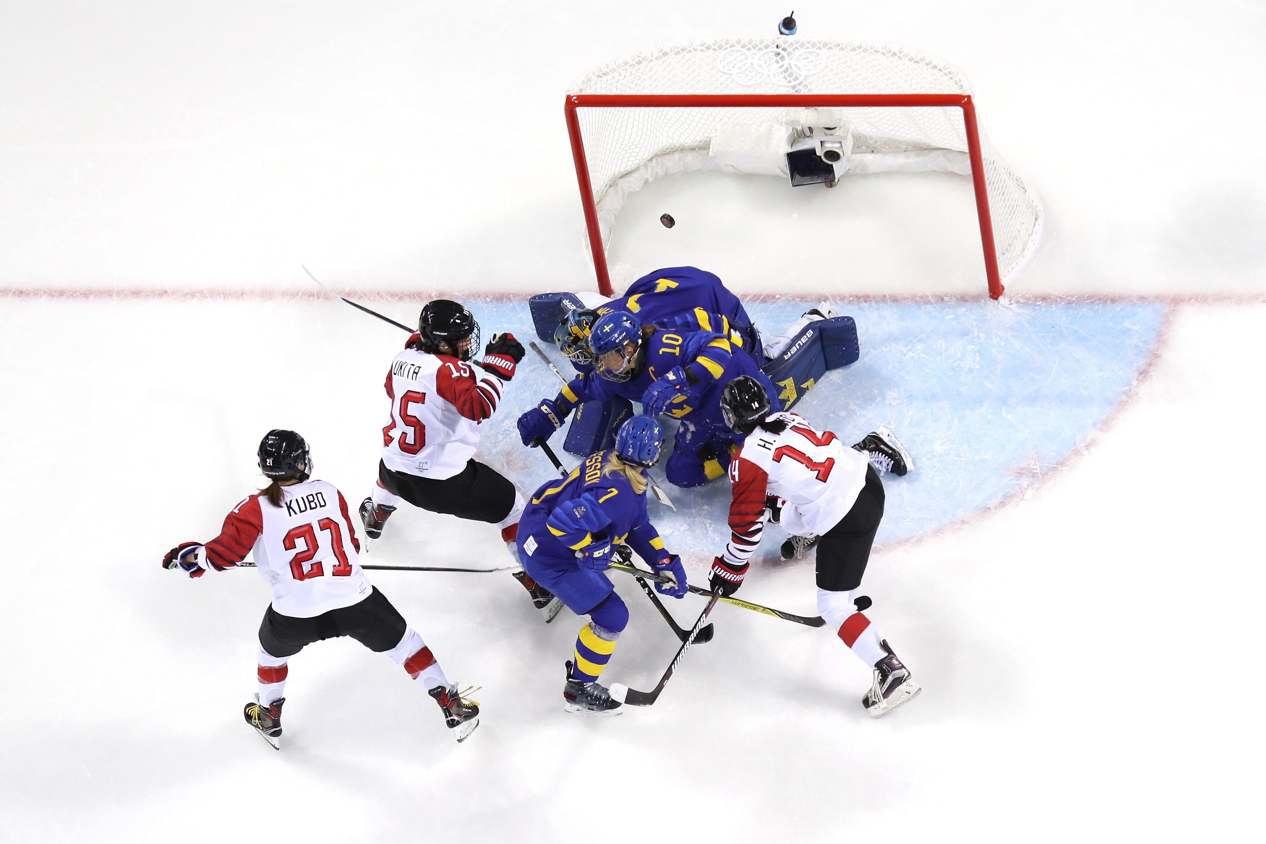 Olympics women's hockey classification game, Sweden vs ...