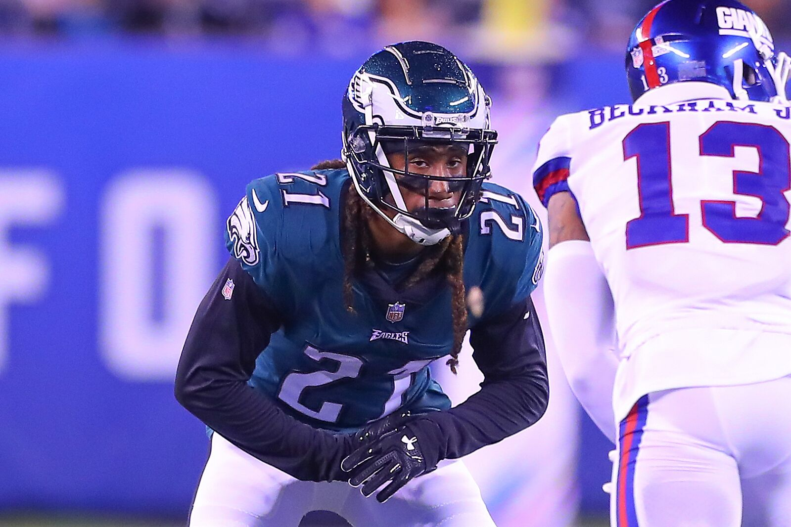 432699d507f3e4 EAST RUTHERFORD, NJ – OCTOBER 11: Philadelphia Eagles cornerback Ronald  Darby (21) during the National Football League game between the New York  Giants and ...