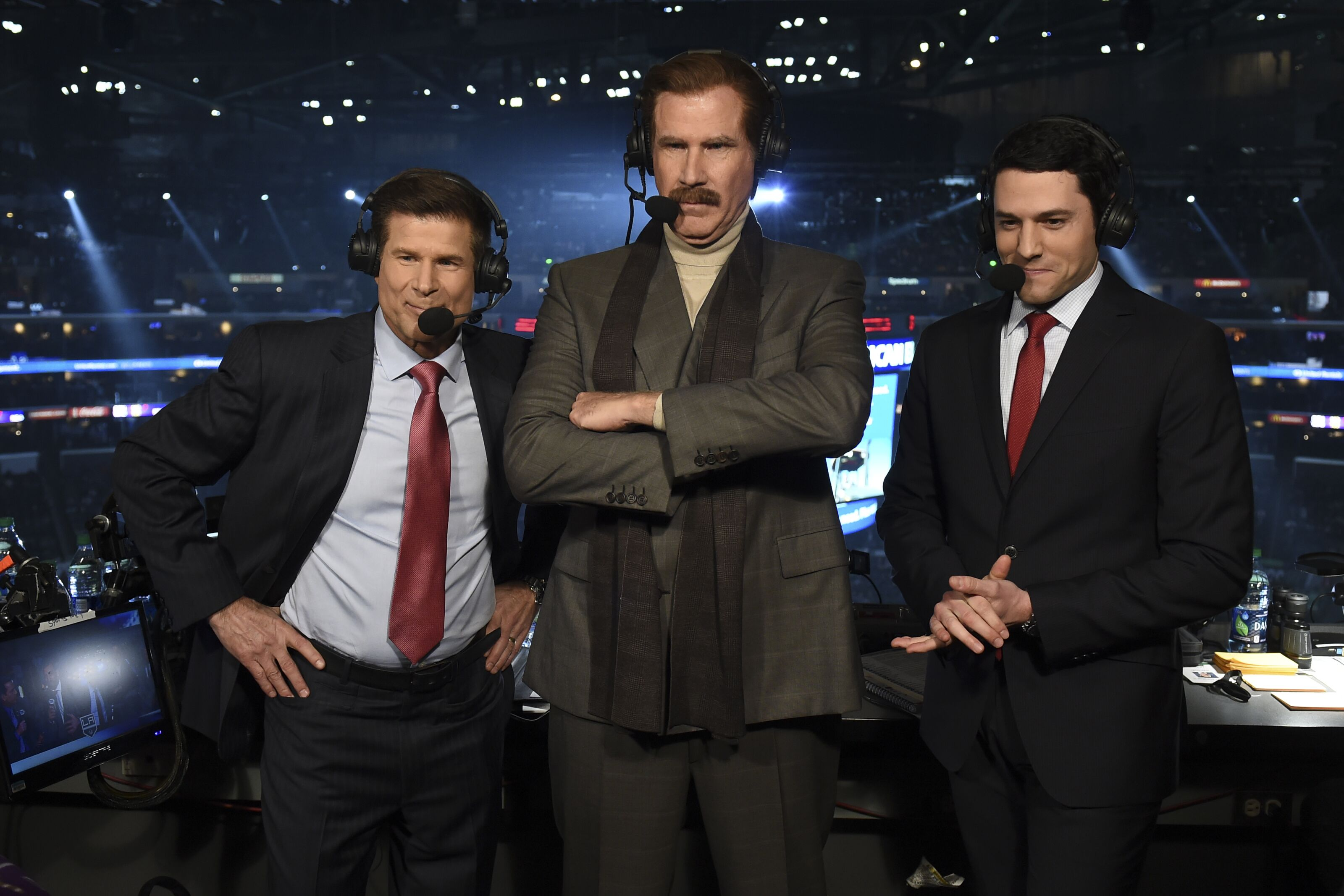 762af4534c8 Ron Burgundy tried his hand at hockey play by play for Kings-Sharks