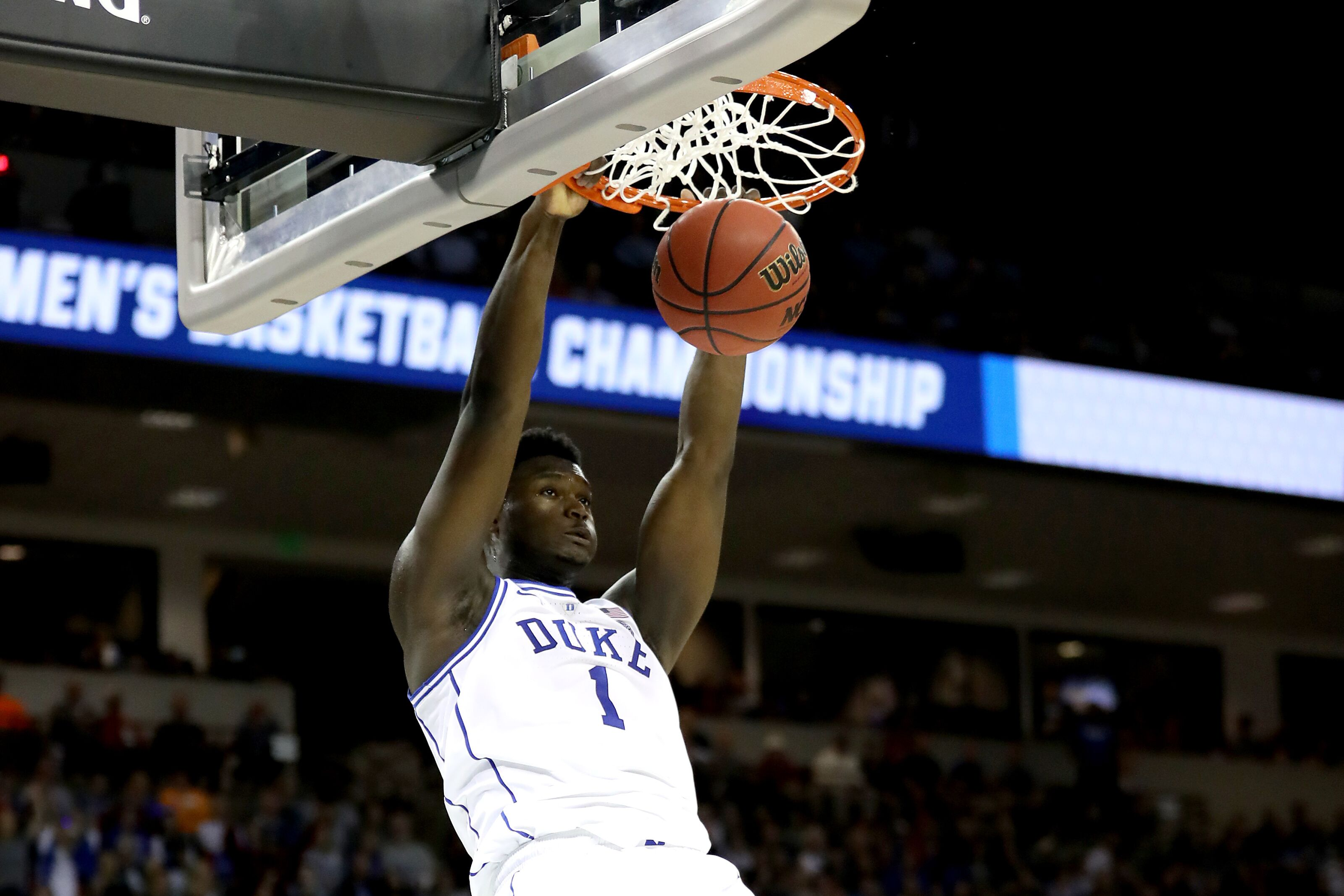 Zion Williamson is definitely going to dunk on Tacko Fall now
