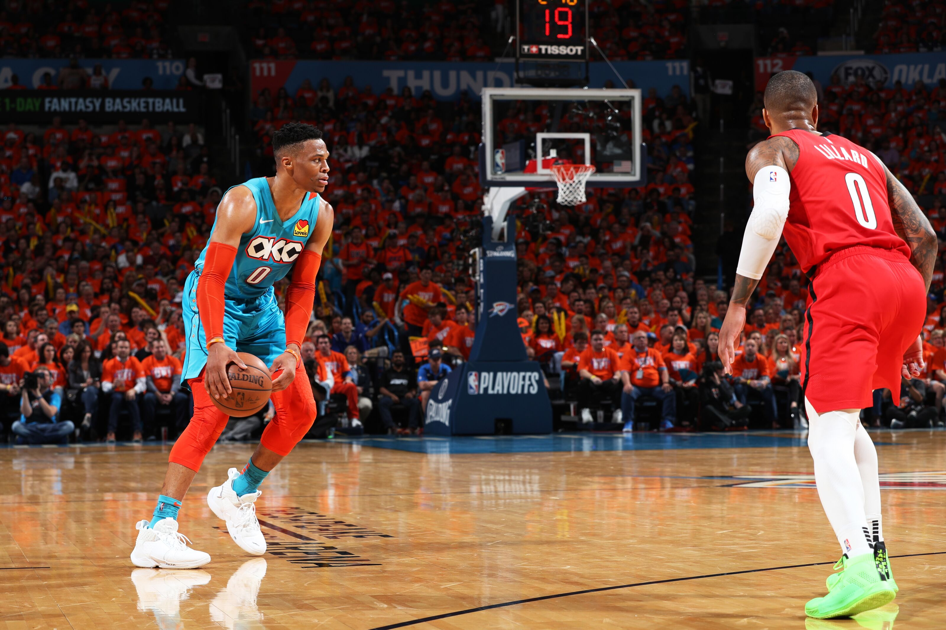 Russell Westbrook and Thunder overcome huge third quarter from Damian Lillard to take Game 3