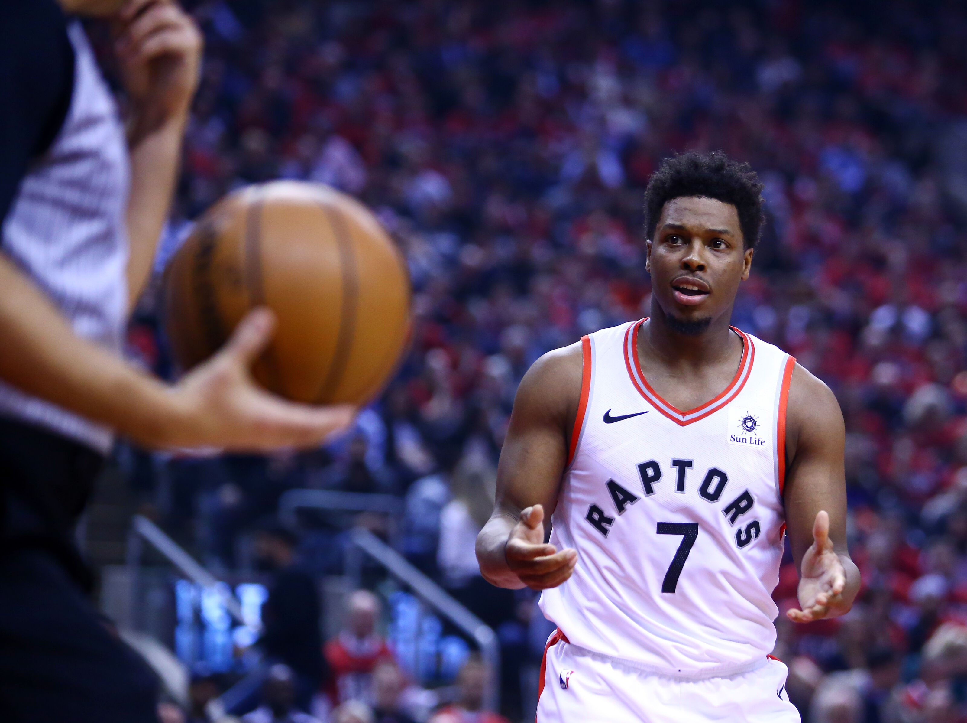 87c7946a24ec Raptors fans go nuts when Kyle Lowry gets his first points of playoffs