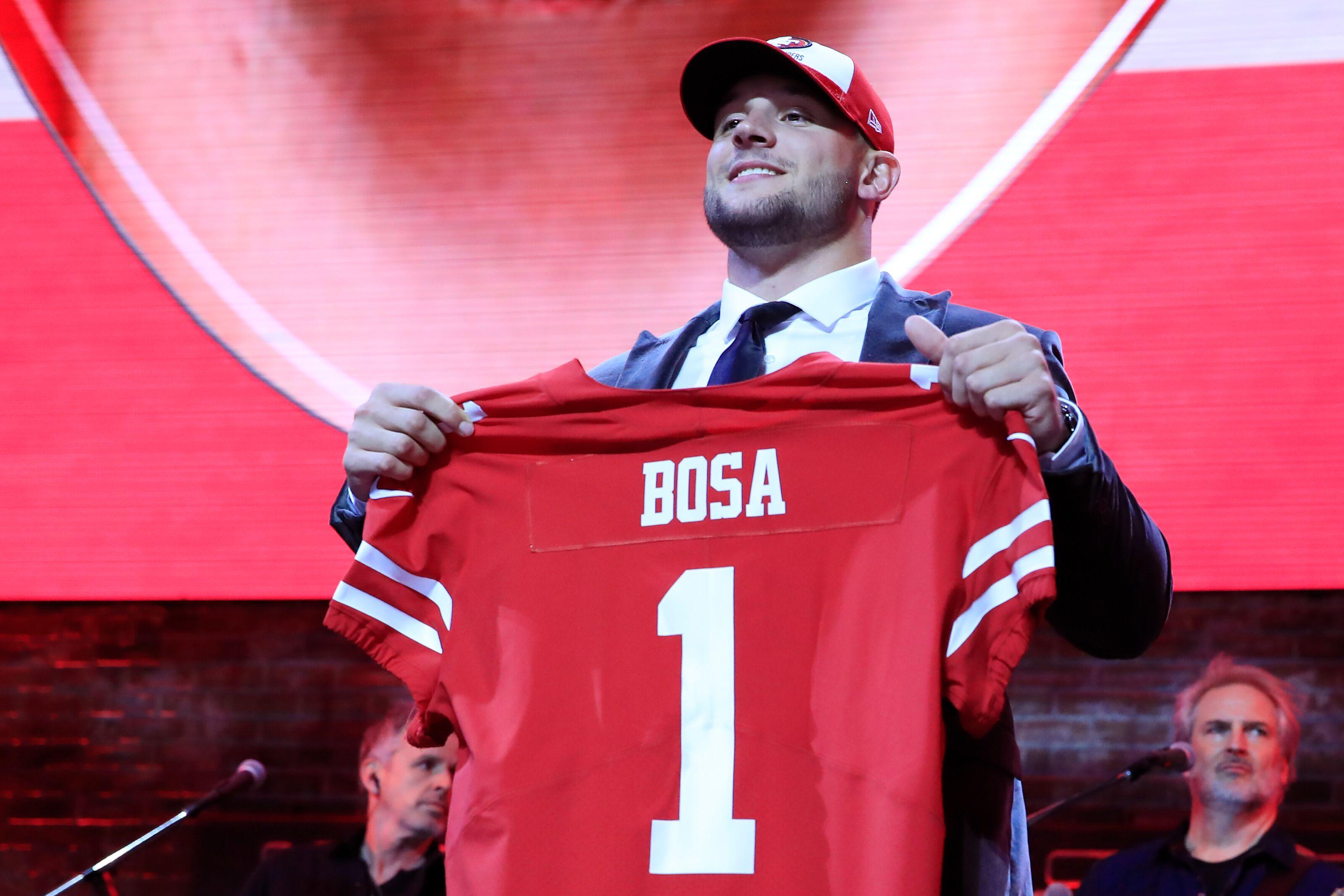 Nick Bosa injures hamstring in first 49ers OTA